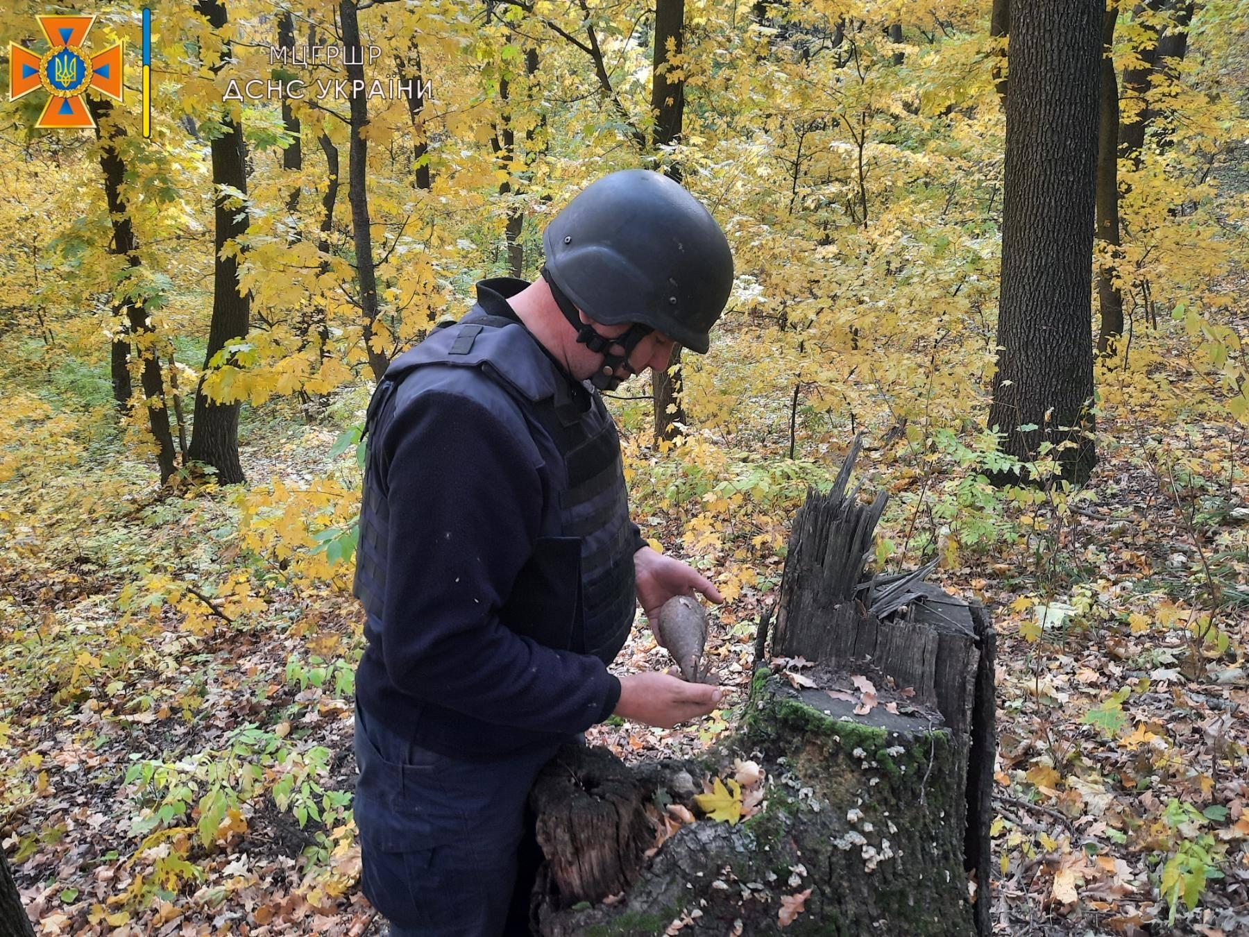 На Харьковщине взорвали 28 боеприпасов (фото)