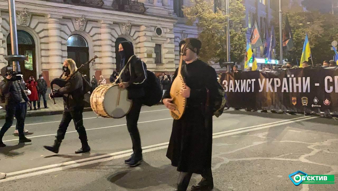 По Сумской прошел марш защитников Украины