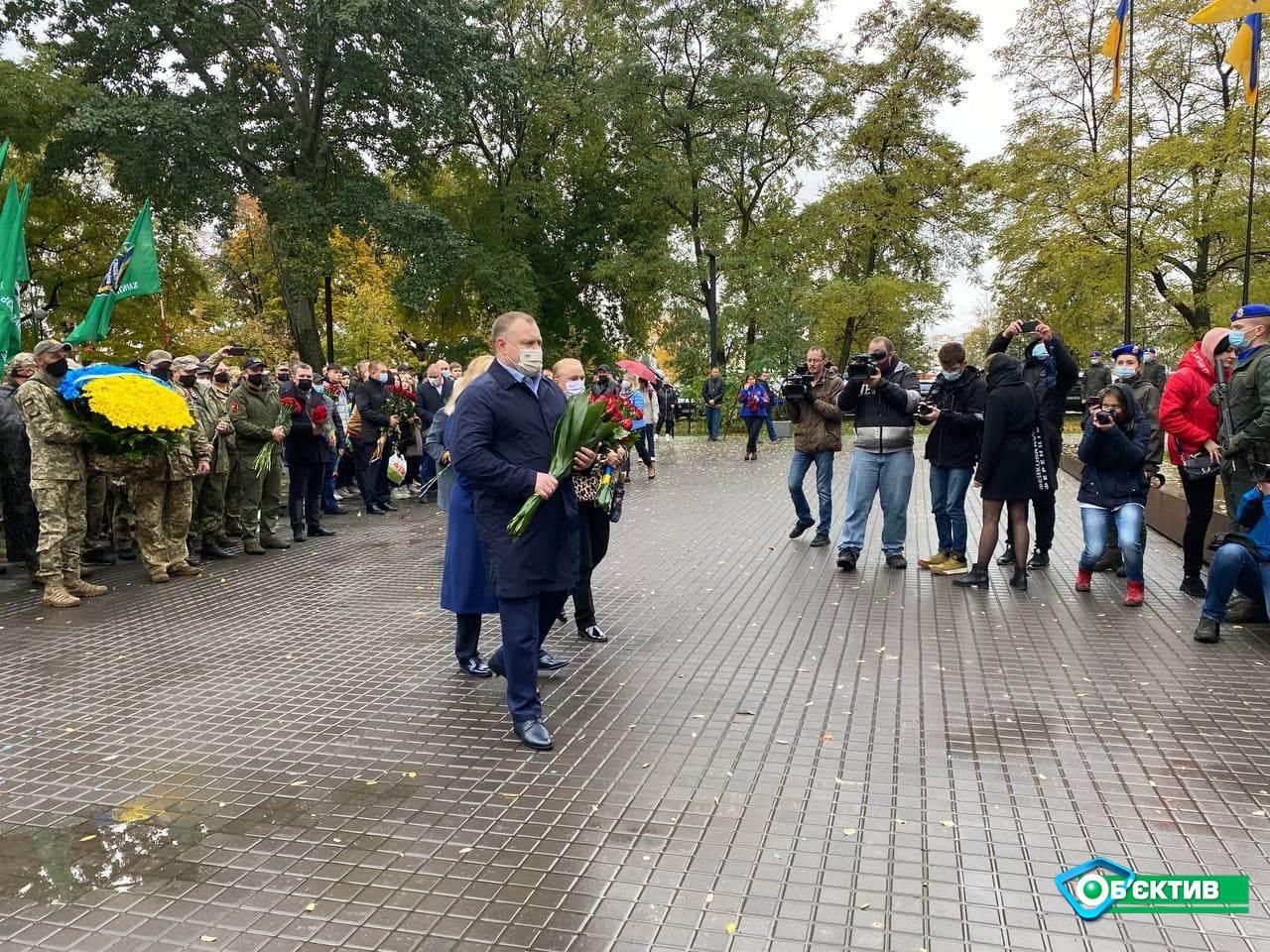В Харькове на Покрову прошли мероприятия возле Монумента защитникам Украины