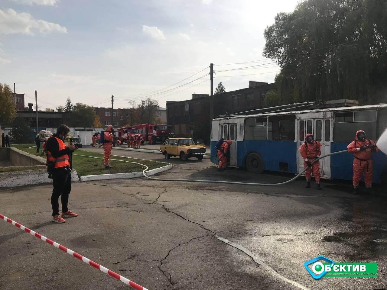 В Харькове для спасателей провели практический тренинг по ликвидации химических аварий