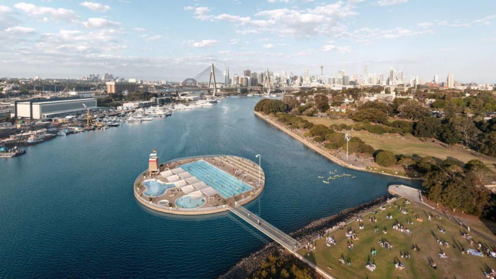 В гавани Сиднея в скором времени появится уникальный бассейн