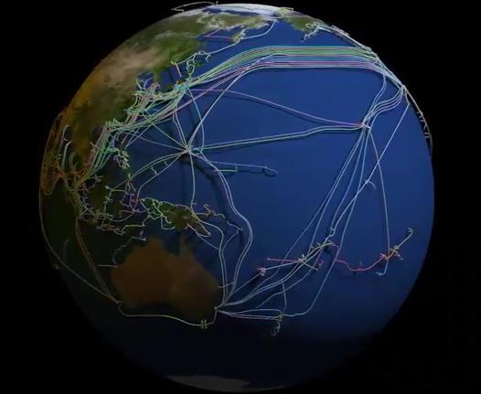1,13 млн метров вокруг Земли: ученые сделали карту кабелей, за счет которых работает интернет (, фото видео)